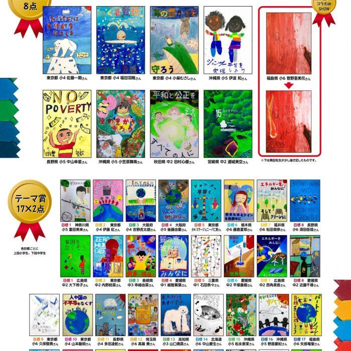 SDGs全国ポスターコンクール 市内児童6名の作品が入賞